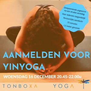 Yinyoga 16 December